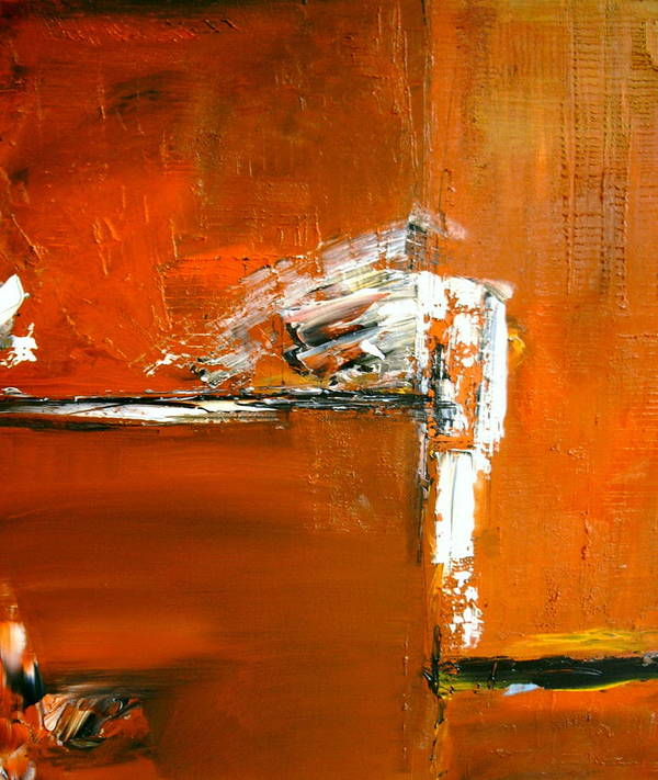 Abstract Art Print featuring the painting Unravelling The Chaotic Vision by Stefan Fiedorowicz