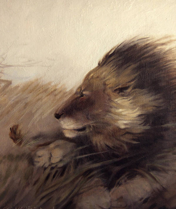 Animal Art Print featuring the painting Wind by Patrick McClintock