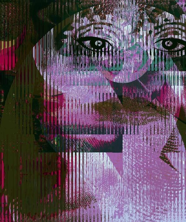 Fania Simon Art Print featuring the mixed media Woman - Art And Theory by Fania Simon