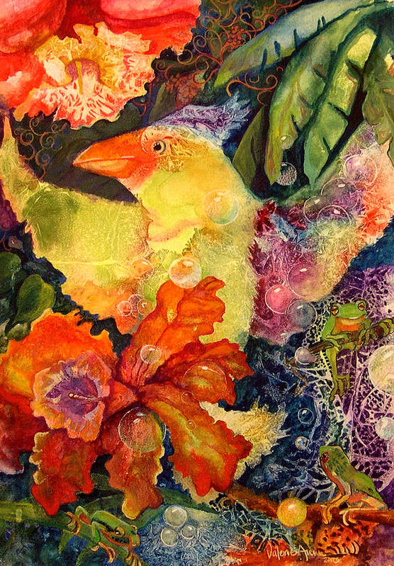 Bird Art Print featuring the painting Holiday by Valerie Aune