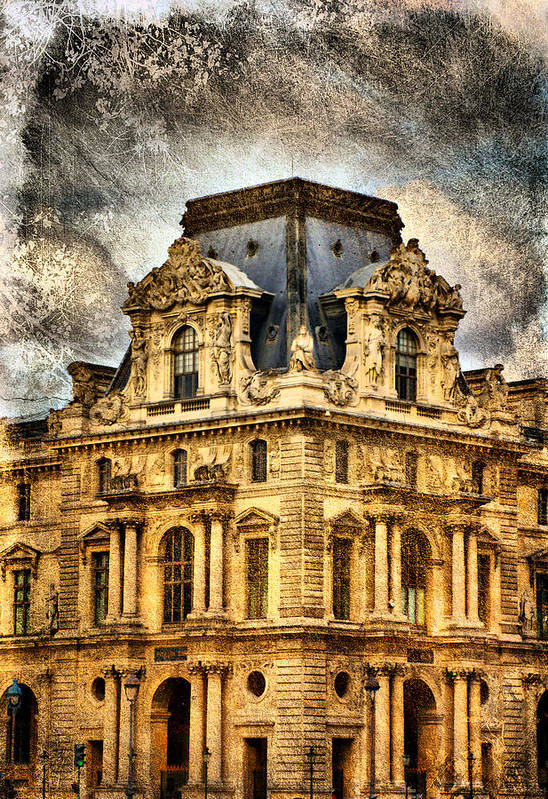 Europe Art Print featuring the photograph Louvre A La Grunge by Greg Sharpe
