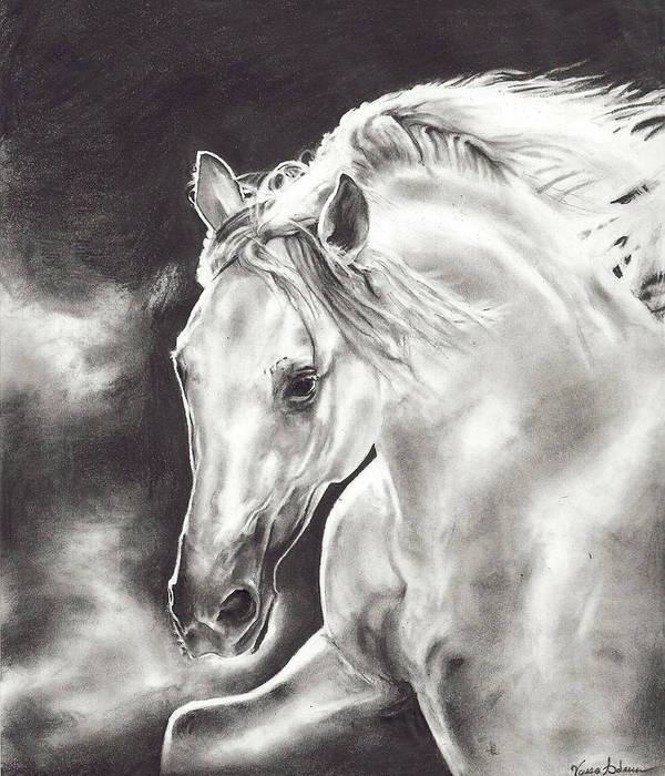Art Print featuring the drawing Endurance by Vanessa Anderson
