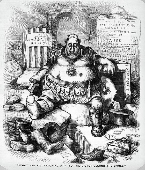 1800s 1871 Thomas Nast Cartoon Of Boss Art Print