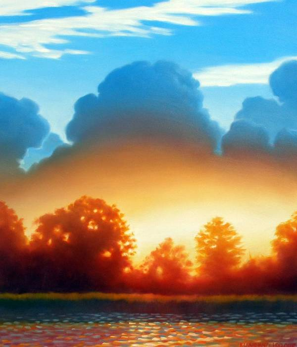 Sunset Art Print featuring the painting Glowing by Kevin Lawrence Leveque