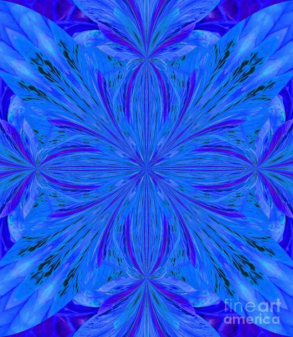 Abstract 206 Art Print featuring the digital art Abstract 206 by Maria Urso