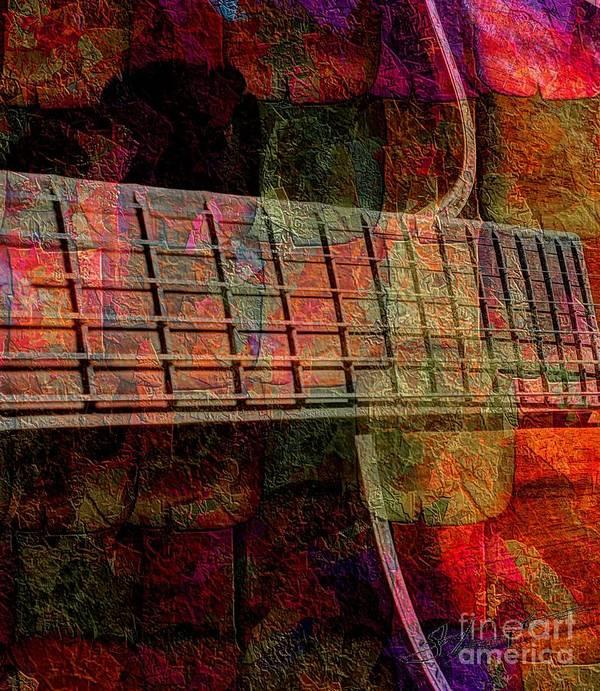 Acoustic Art Print featuring the photograph Acoustic Palette Digital Guitar Art By Steven Langston by Steven Lebron Langston