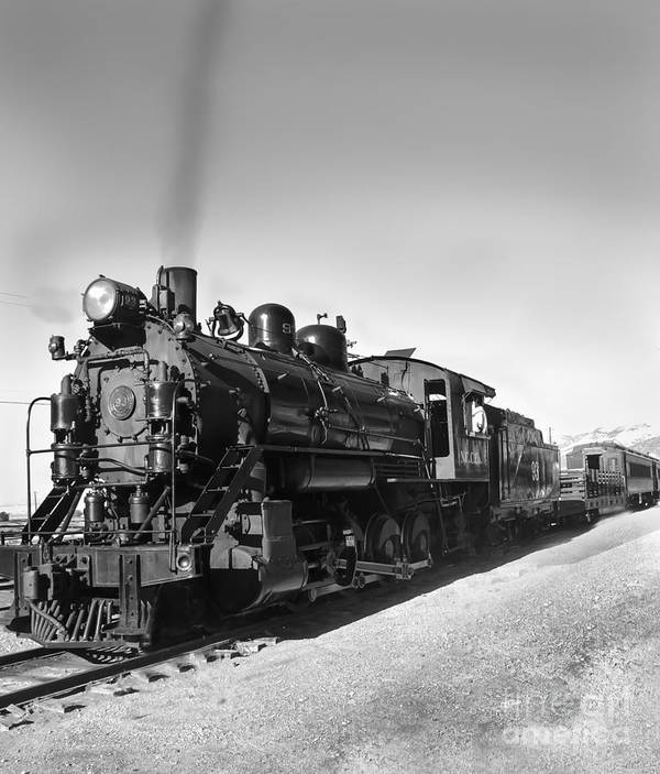 Train Print featuring the photograph All Aboard by Robert Bales