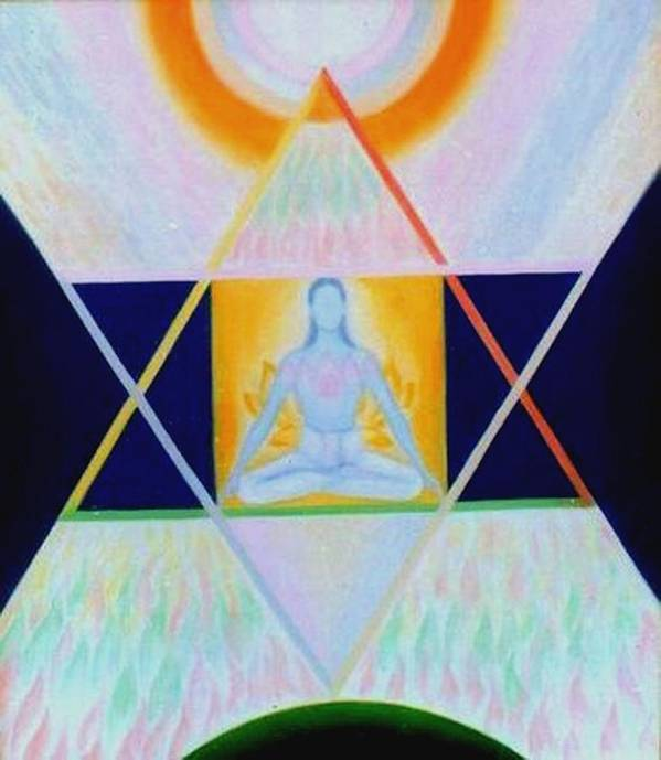 Ascent Art Print featuring the painting Ascent - Descent by Shiva Vangara