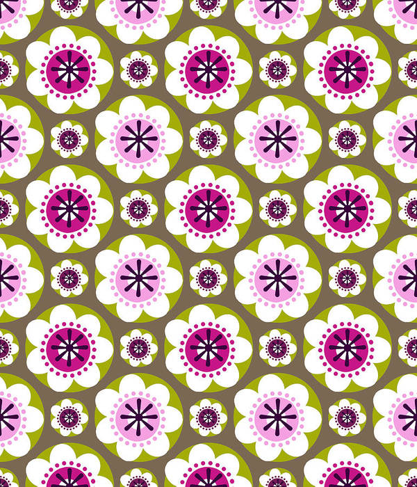 Posters Print featuring the digital art Daisy's Flower Garden by Lisa Noneman