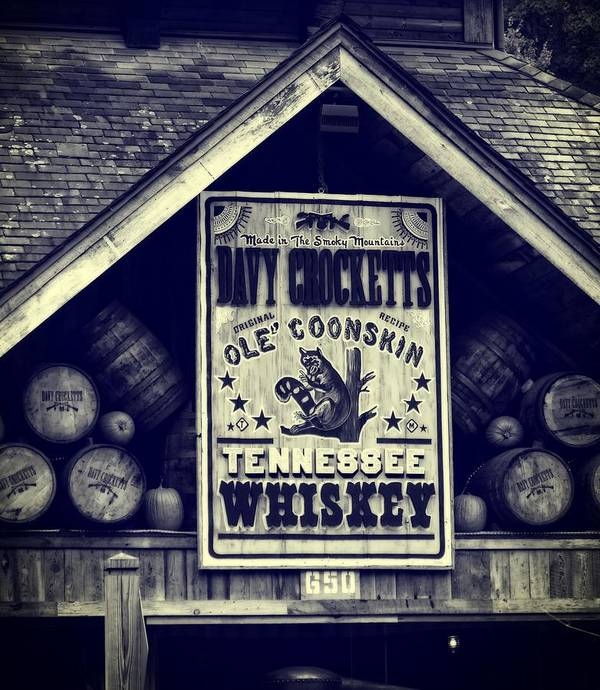 Davy Crocketts Tennessee Whiskey Art Print featuring the photograph Davy Crocketts Tennessee Whiskey by Dan Sproul