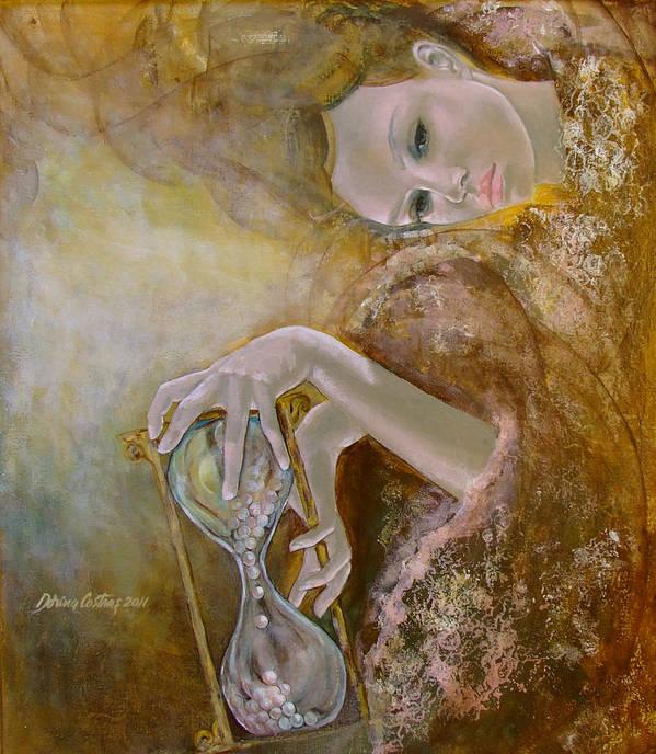 Art Art Print featuring the painting Deja Vu by Dorina Costras