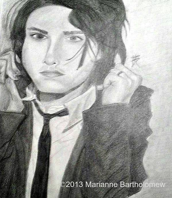 Gerard Way Art Print featuring the drawing Gerard Way by Marianne Bartholomew