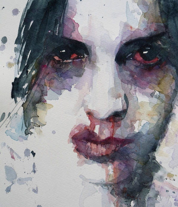 Portrait Art Print featuring the painting Haunted  by Paul Lovering