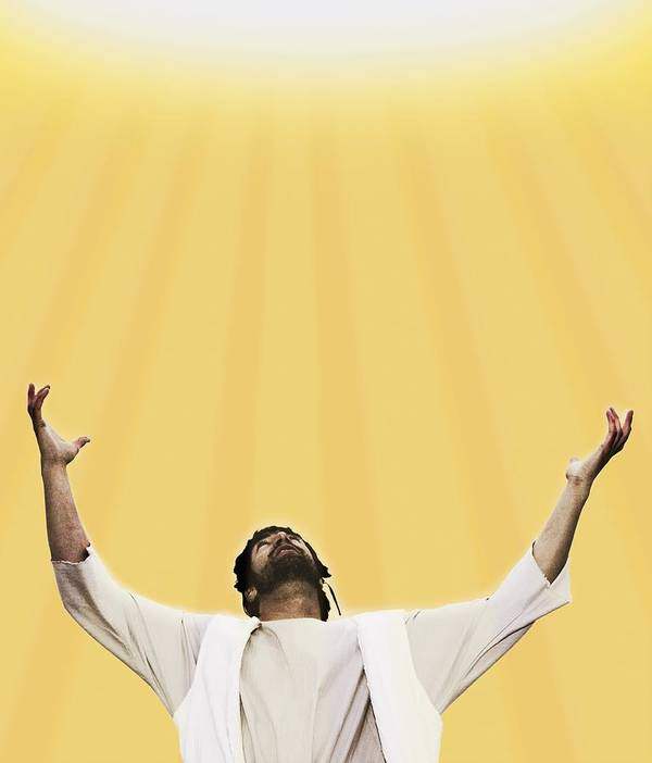 Concept Art Print featuring the photograph Jesus Cries Out To Heaven by Kelly Redinger