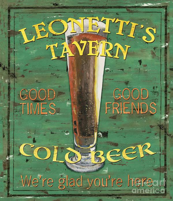 Tavern Art Print featuring the painting Leonetti's Tavern by Debbie DeWitt