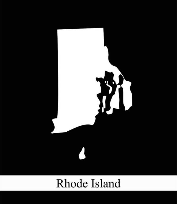 Rhode Island State Of Usa Map Vector Outline Illustration Black And ...