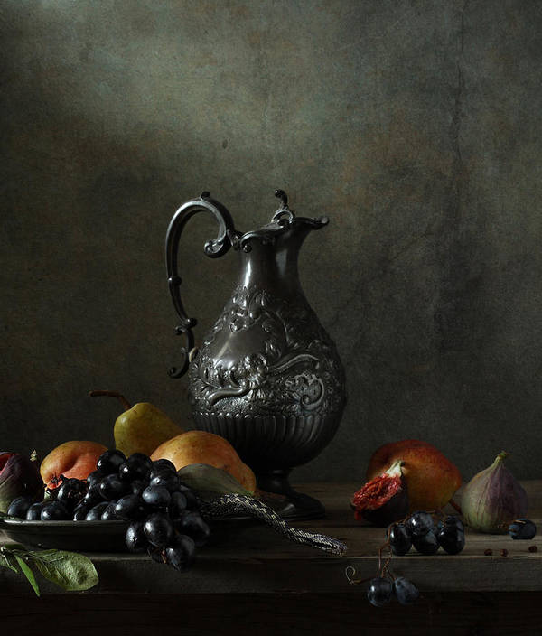 Fine Art Photograph Art Print featuring the photograph Still Life With A Jug And A Snake by Diana Amelina