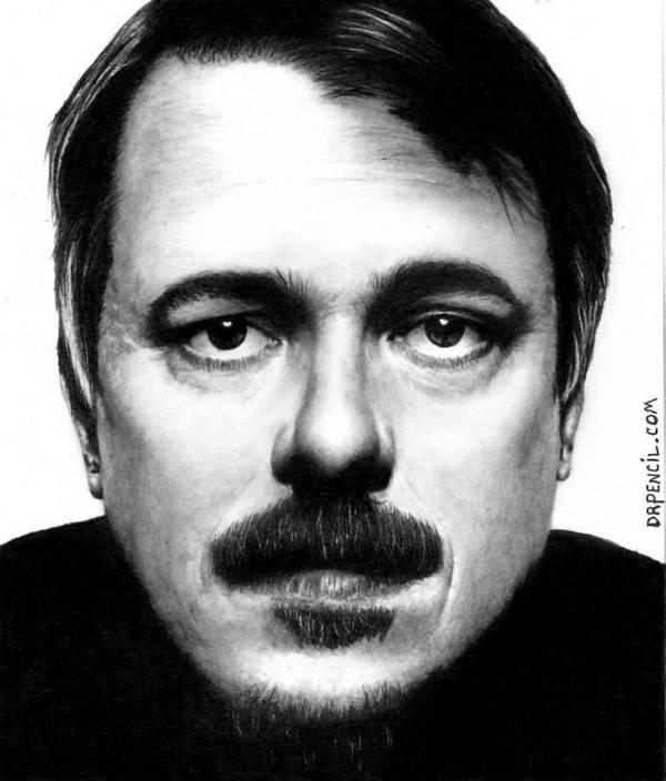 Vince Gilligan Breaking Bad Art Print featuring the drawing Vince Gilligan Breaking Bad by Rick Fortson