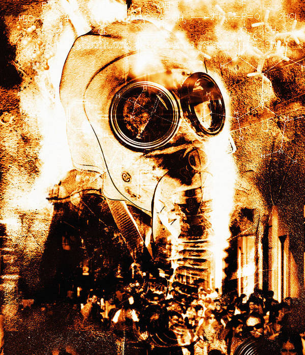 Terrorism Art Print featuring the photograph Chemical Warfare by Mehau Kulyk