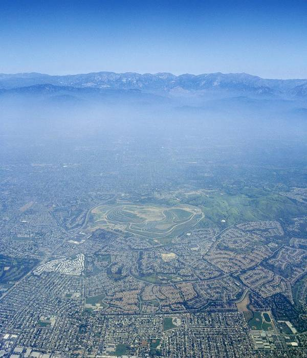 Los Angeles Art Print featuring the photograph Air Pollution Over Los Angeles by Detlev Van Ravenswaay