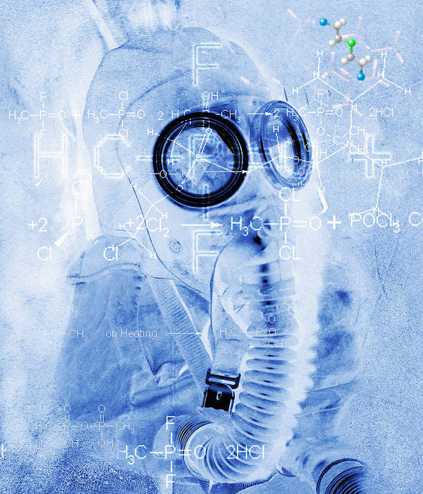 Terrorism Art Print featuring the photograph Chemical Warfare by Mehau Kulyk