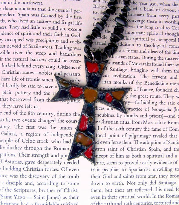 Bible Print featuring the jewelry Christian Cross by Cynthia Amaral