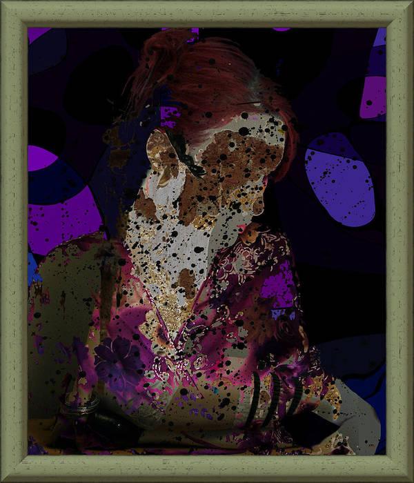 Girl Art Print featuring the digital art cybergeisha II by Adam Kissel