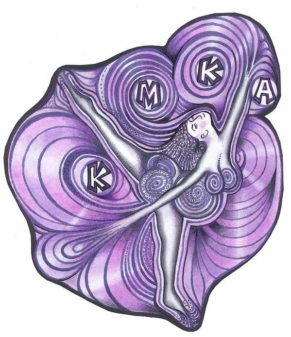Portraits Art Print featuring the drawing Fabulous Mothers Logo by Rick Hill