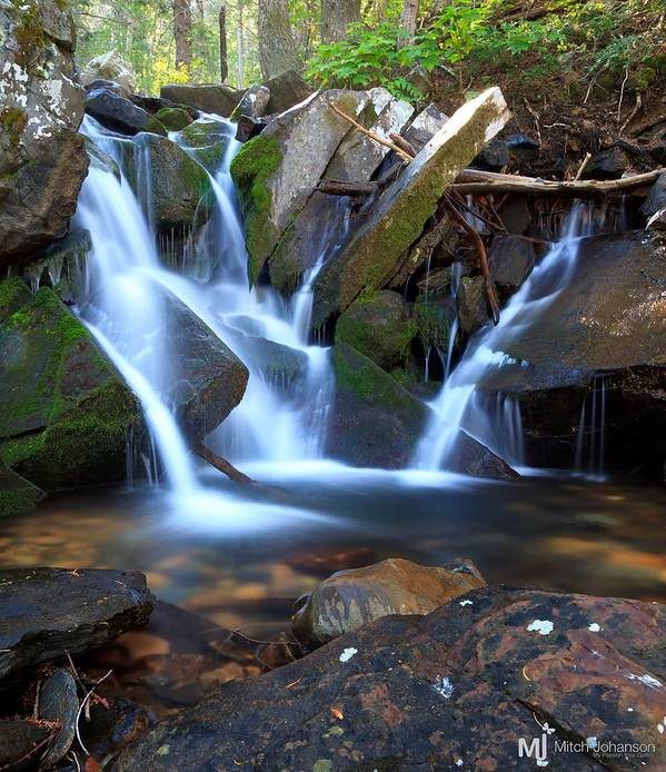 Waterfall Art Print featuring the photograph Fall Together by Mitch Johanson