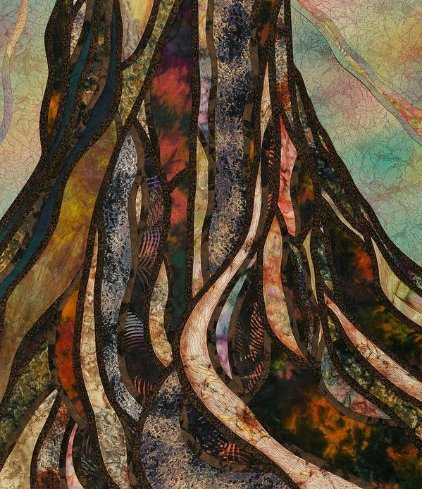 Tree Art Print featuring the tapestry - textile Grounded by Doria Goocher