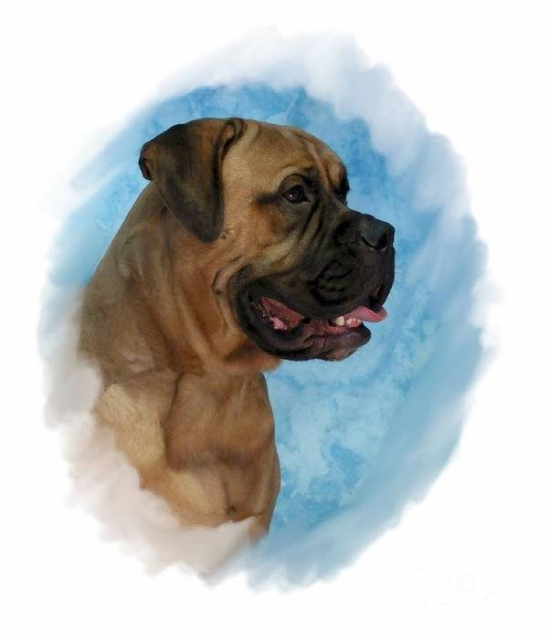 Mastiff Digital Art Art Print featuring the digital art Mastiff 203 by Larry Matthews