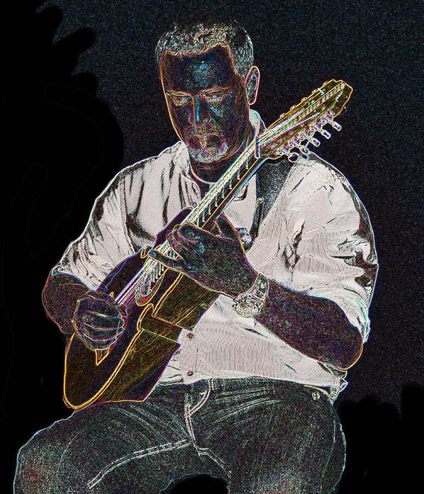 Music Art Print featuring the photograph Musician by Carlos Felix Porrata