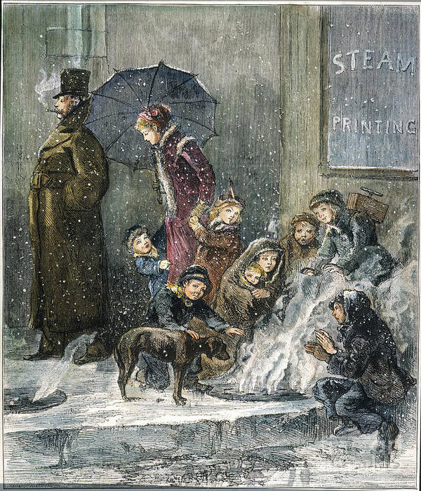 1876 Art Print featuring the photograph New York: Poverty, 1876 by Granger