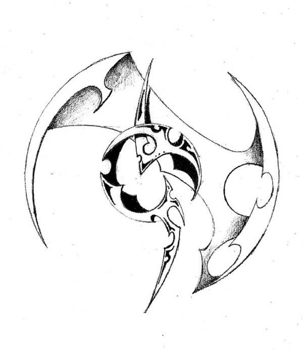 Symbol Circle Pencil Design Shade Art Print featuring the drawing Pencil And Ink 50-2011.jpg by Frank G
