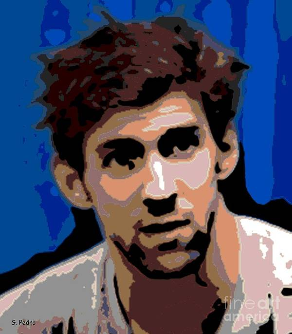 Michael Phelps Art Print featuring the photograph Portrait Of Phelps by George Pedro