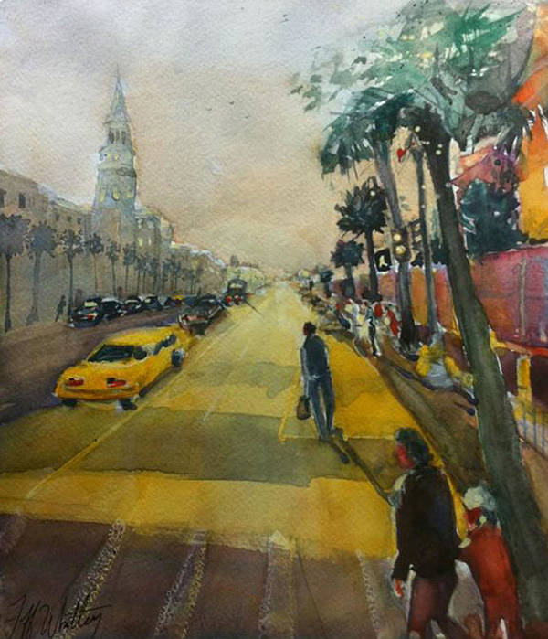 Charleston Art Print featuring the painting Proceed With Caution by Jeffrey Whitley
