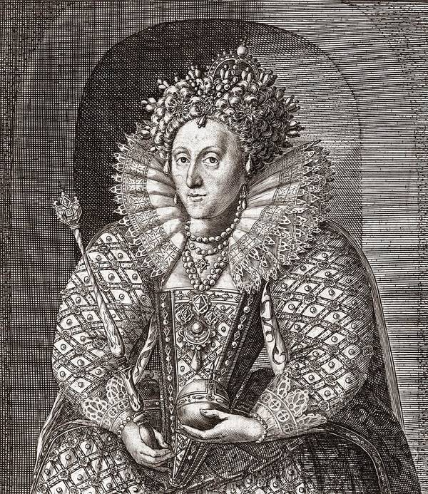 Spanish Armada Art Print featuring the photograph Queen Elizabeth I, English Monarch by Middle Temple Library