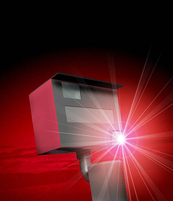 Speed Camera Art Print featuring the photograph Speed Camera by Victor Habbick Visions