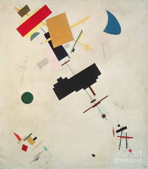 Suprematisme; Suprematism; Abstract; Constructivist; Geometric Art Print featuring the painting Suprematist Composition No 56 by Kazimir Severinovich Malevich
