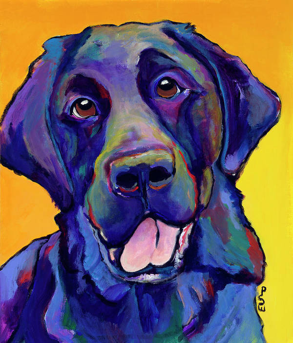 Labrador Rertrievers Print featuring the painting Buddy by Pat Saunders-White