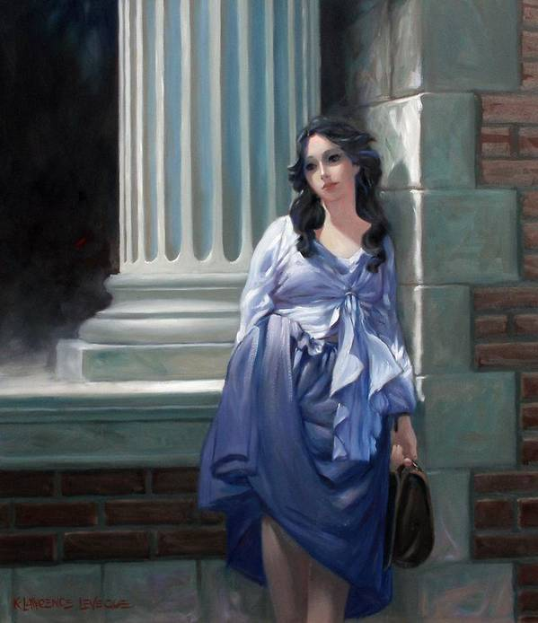 Figurative Art Print featuring the painting Gone With The Wind by Kevin Lawrence Leveque