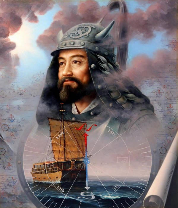 Sea Captain Art Print featuring the painting World Unification Blue Or Sea Captain by Yoo Choong Yeul