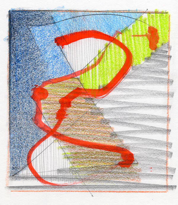 Abstract Art Print featuring the drawing Rcnpaintings.com by Chris N Rohrbach