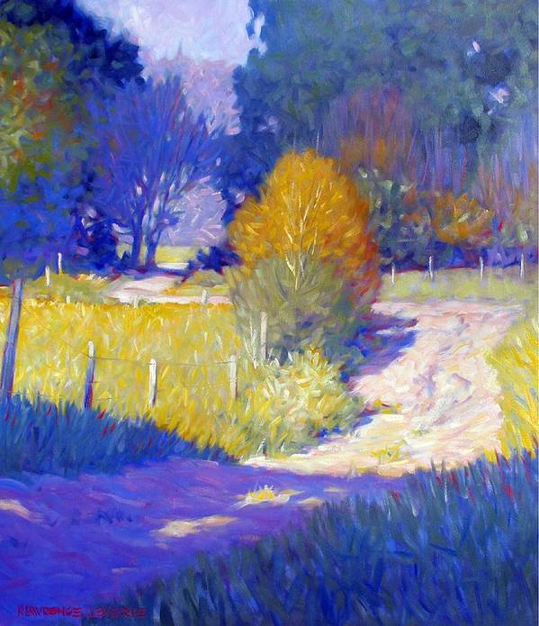 Landscape Art Print featuring the painting Back Road by Kevin Lawrence Leveque
