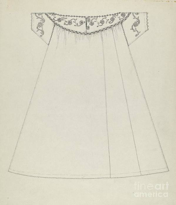 Art Print featuring the drawing Nightgown by Evelyn Bailey