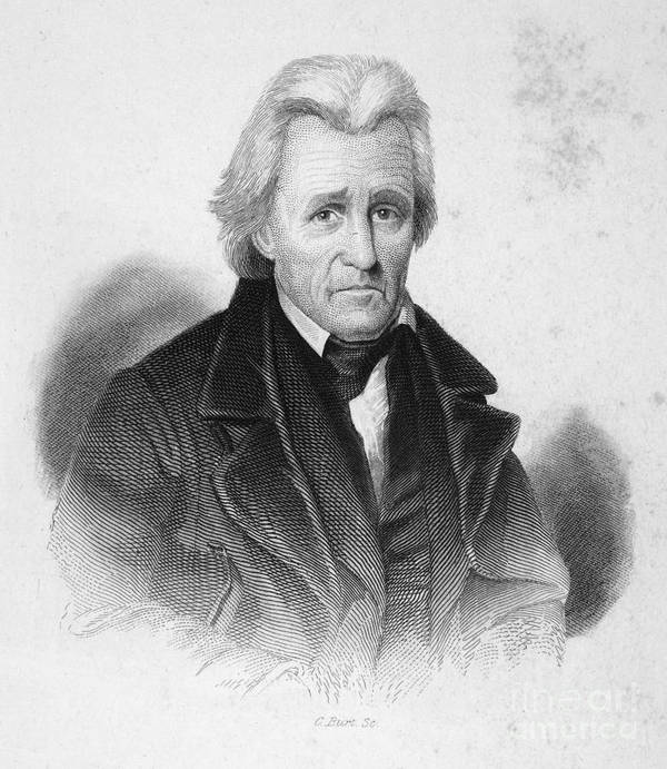 19th Century Art Print featuring the photograph Andrew Jackson (1767-1845) by Granger