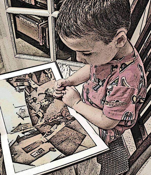 Children Art Print featuring the photograph Children Series by Ginger Geftakys
