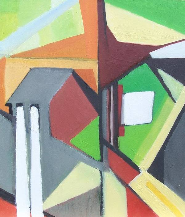 Contemporary Painting Art Print featuring the painting A Jersey Abstraction by Ron Erickson