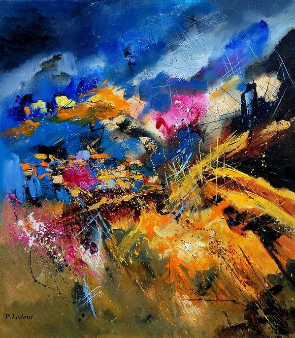 Abstract Art Print featuring the painting Abstract 7808082 by Pol Ledent