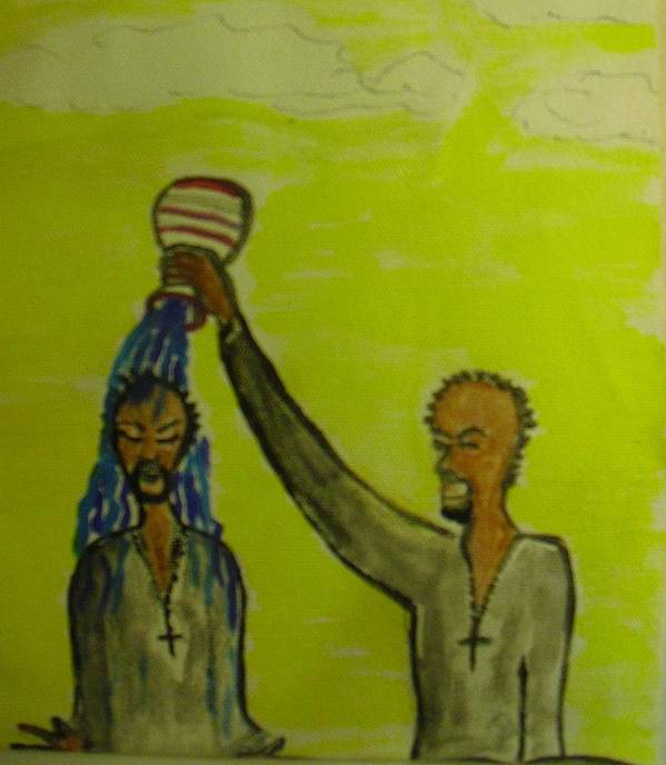 Christian Art Art Print featuring the painting Anointed Again by Troix Johnson